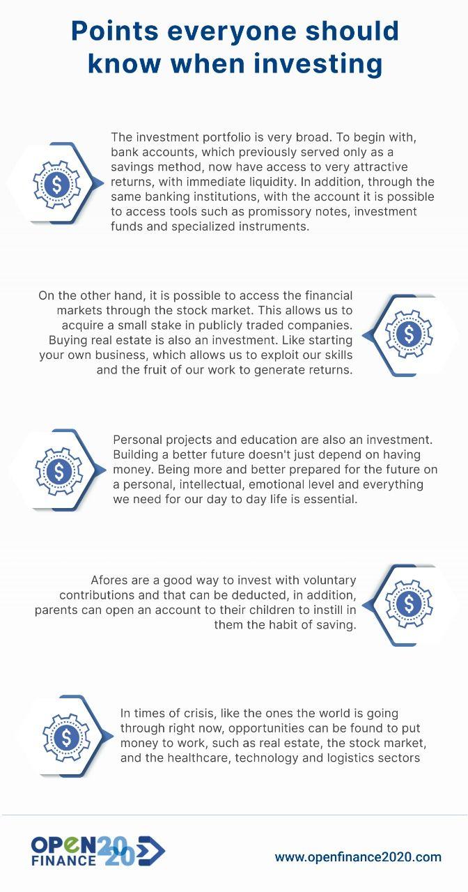 Puntos que todos deben saber al invertir