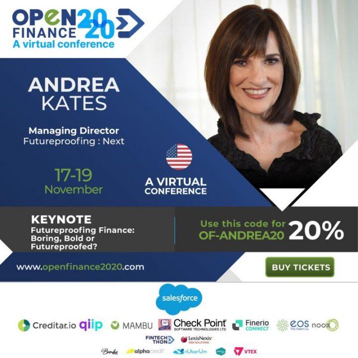 Andrea Kates estará presente en OpenFinance2020