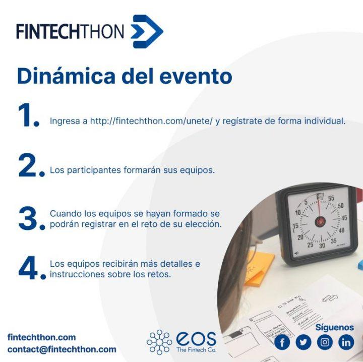 Participar en Fintechthon es muy fácil. Solo debes seguir los siguientes pasos.