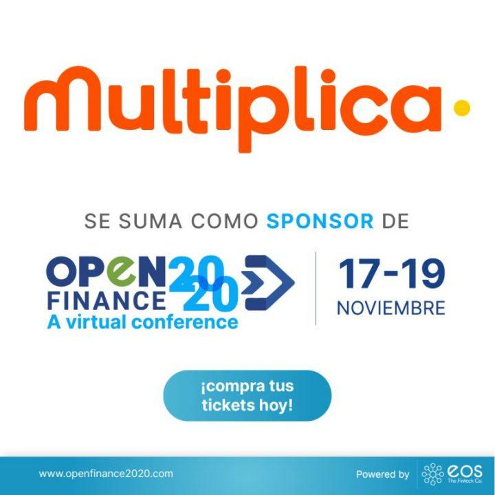 Nos complace anunciar a Multiplica como patrocinador de #OpenFinance2020 🚀