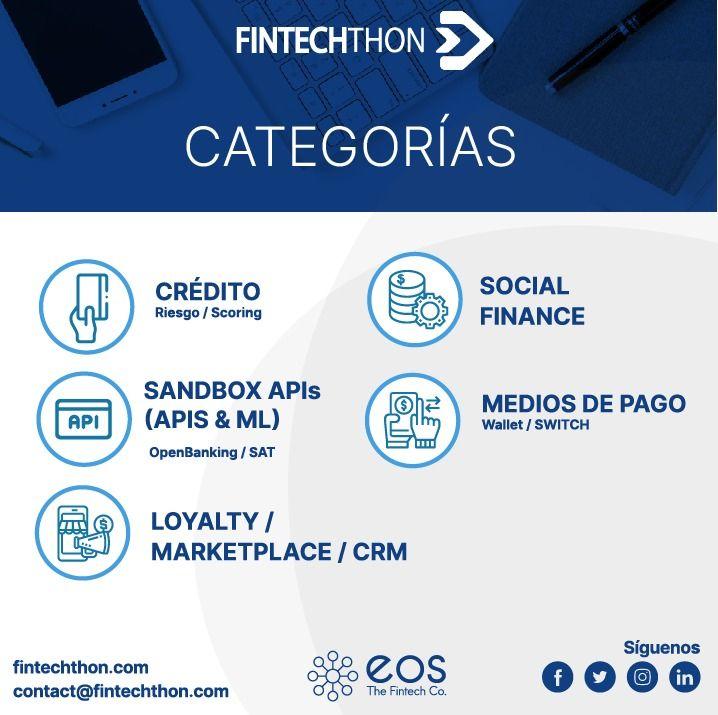 ¿Ya sabes cuales son las categorías de FintechThon?