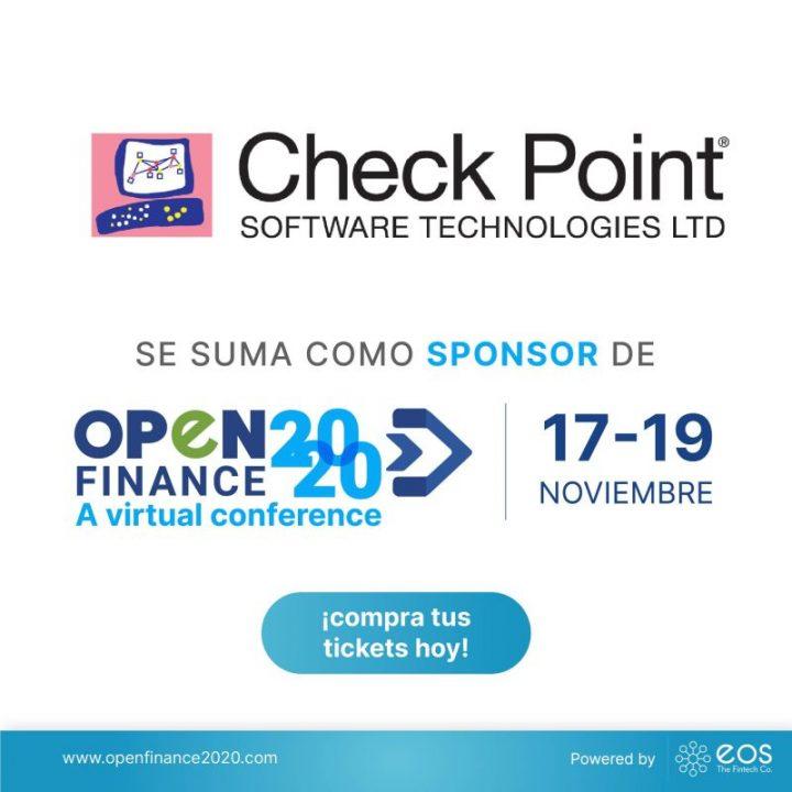 Nos complace anunciar a Check Point Software Technologies, Ltd. como patrocinador de #OpenFinance2020 🚀
