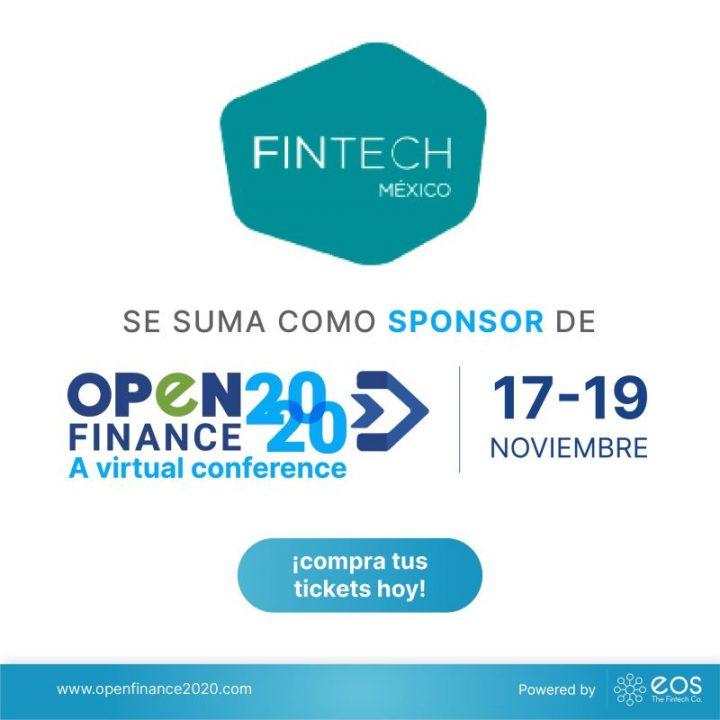 Nos complace anunciar a FinTech México como patrocinador de #OpenFinance2020 🚀