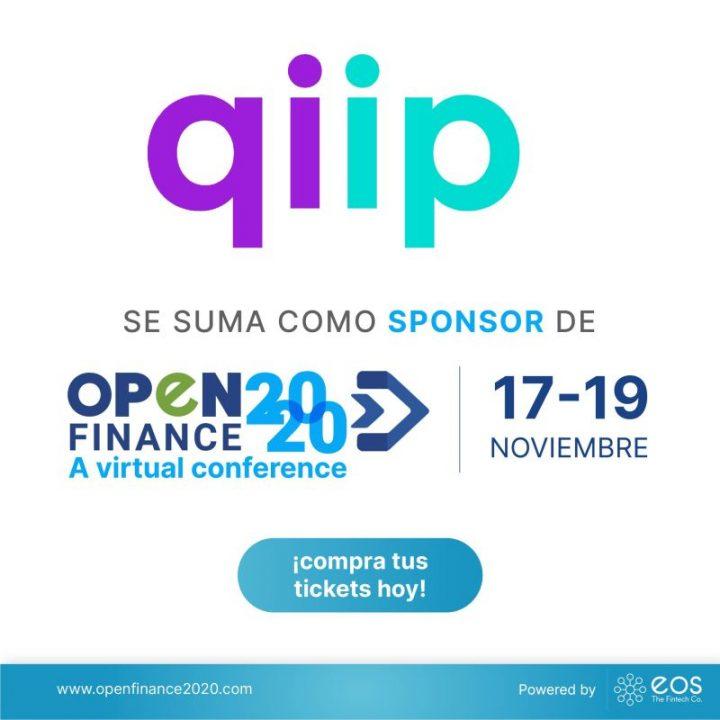 Nos complace anunciar a qiip México como patrocinador de #OpenFinance2020 🚀