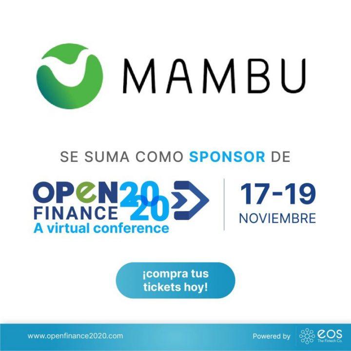 Nos complace anunciar a Mambu como patrocinador de #OpenFinance2020 🚀
