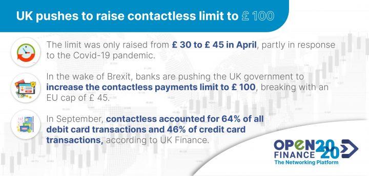 Reino Unido presiona para aumentar el límite sin contacto a £ 100