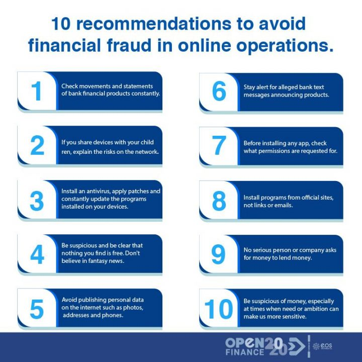 10 recommendations to avoid financial fraud in online operations.