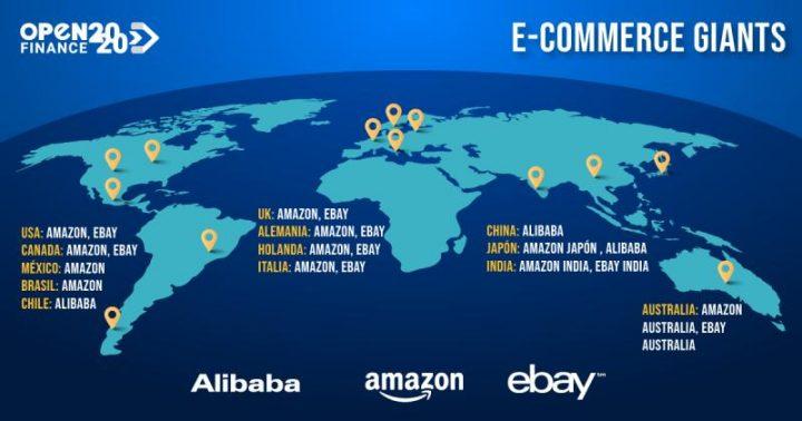 The most used e-commerce portals around the world.