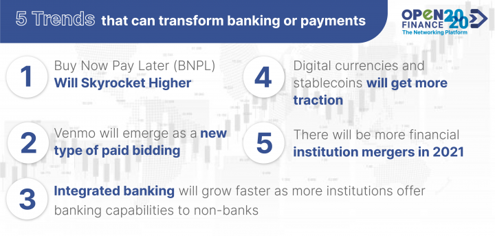 What other trend do you know that can transform banking or payments?