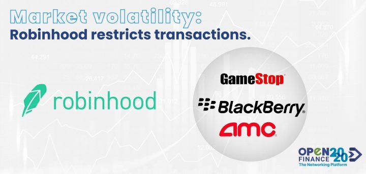 The Robinhood app restricted the transactions of GameStop, AMC, Blackberry.